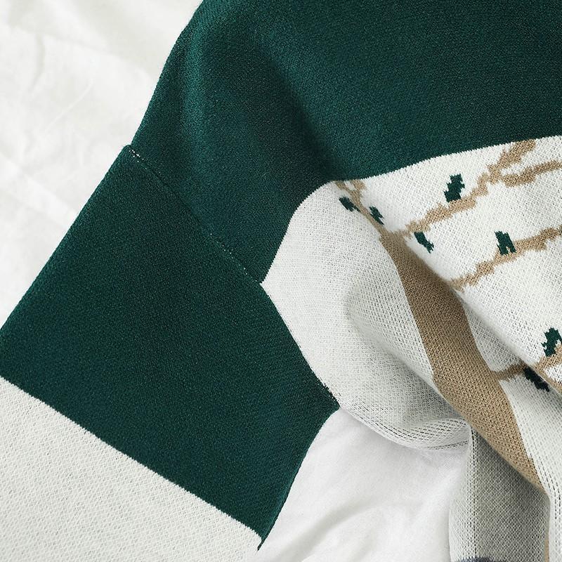 Set Áo Len Cổ Tròn Dài Tay+Chân Váy Chữ A Thời Trang Nữ