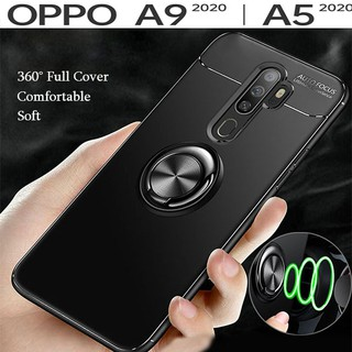 OPPO A5 A9 2020 Soft Case 360 Full Cover Silicone Case with IRing