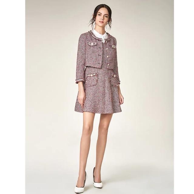 Set dạ tweed Tqxk ( gồm váy + áo khoác ngoai)