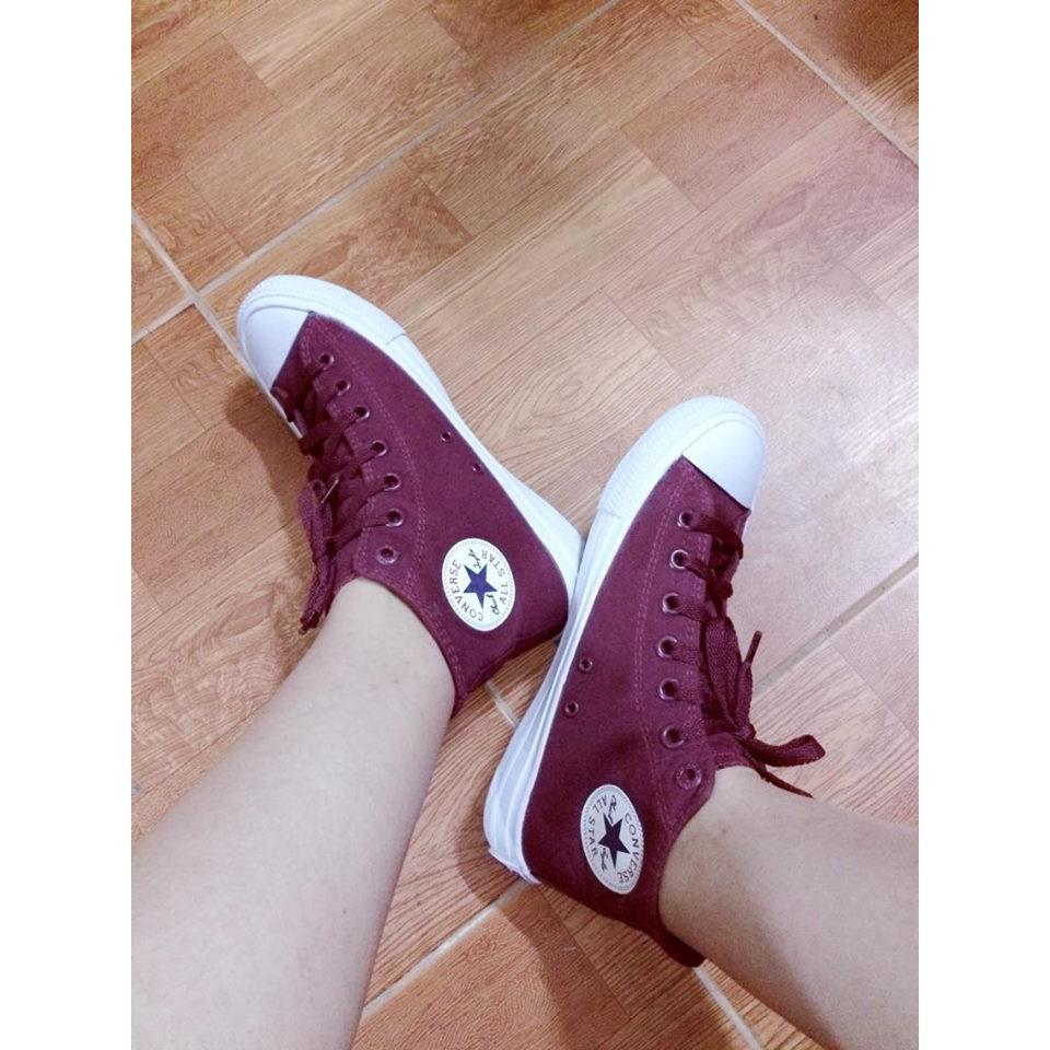 Giày Converse Chuck 2 cổ cao màu Đỏ đô đỏ mận