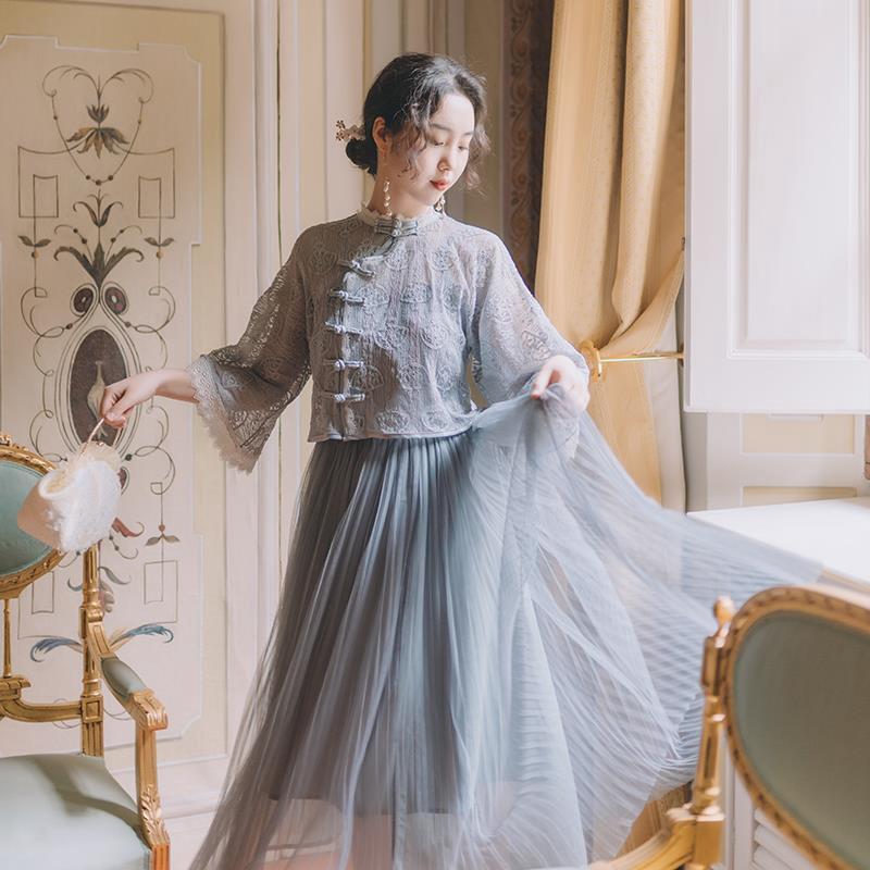 Set Áo Khoác Và Chân Váy Phong Cách Retro Xinh Xắn Cho Nữ