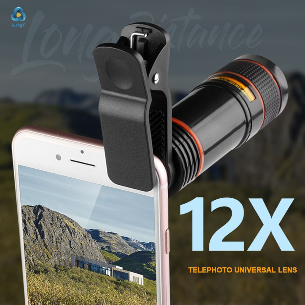 12X Optical Zoom Telescope Camera Lens High Clear Phone Telescope for iPhone 6 7 Samsung Sony