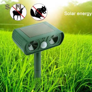Hình ảnh SIM Animal Ultrasonic Cat Repeller Solar Power Repeller RC-510 Garden Insect Announciator Outdoor Electronic