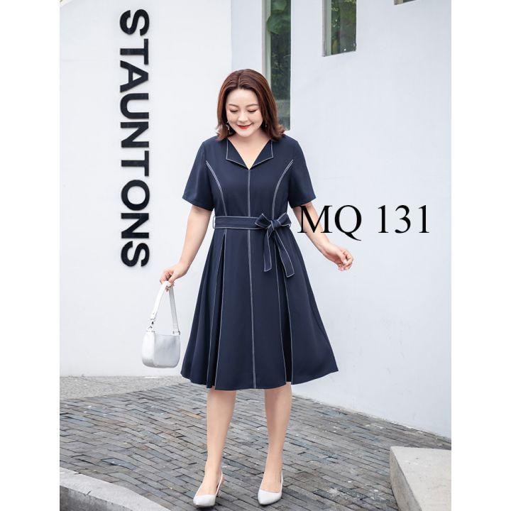 Đầm béo, đầm bigsize vải mềm, giấu bụng MQ 131