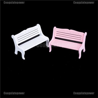 【Coagulatepower】 13*8cm Wooden Bench Chair 1:12 Dollhouse Miniature Furniture Garden Decor