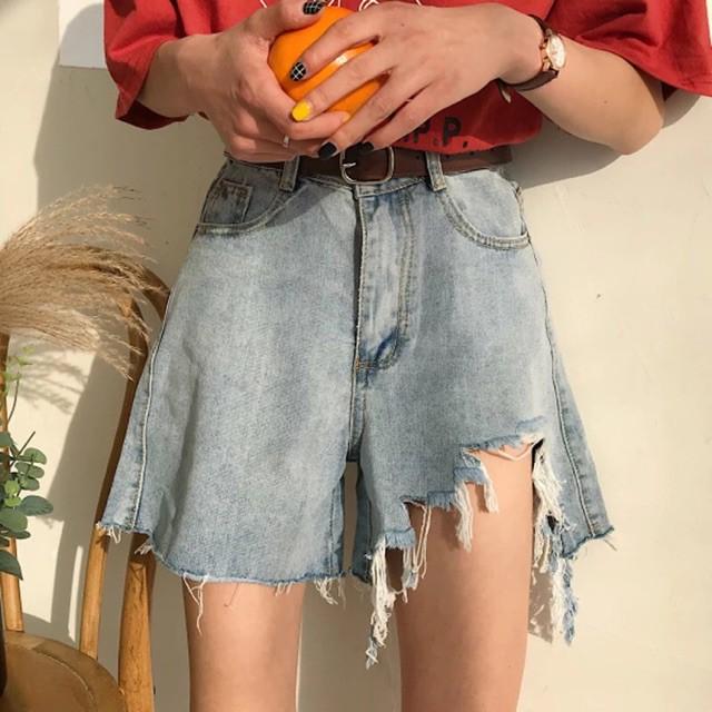 [ ORDER ] Quần jeans ngắn rách ulzzang _ Có bigsize _ Ảnh thật phía saukenkentui-0197