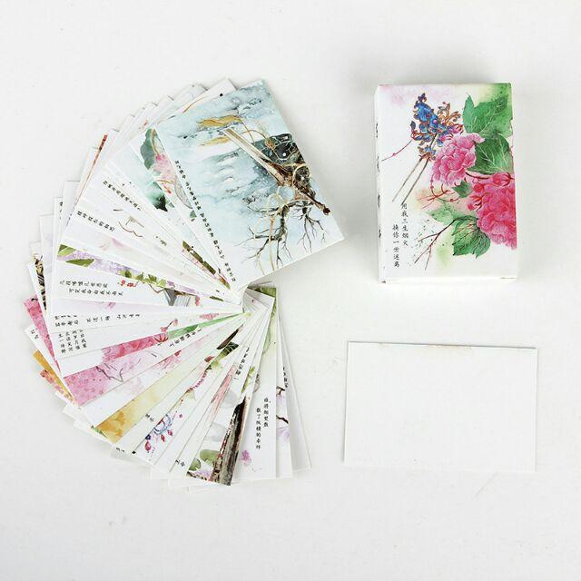 Bộ 28 tranh mẫu mini card 5*8cm (thư pháp Trung Hoa)