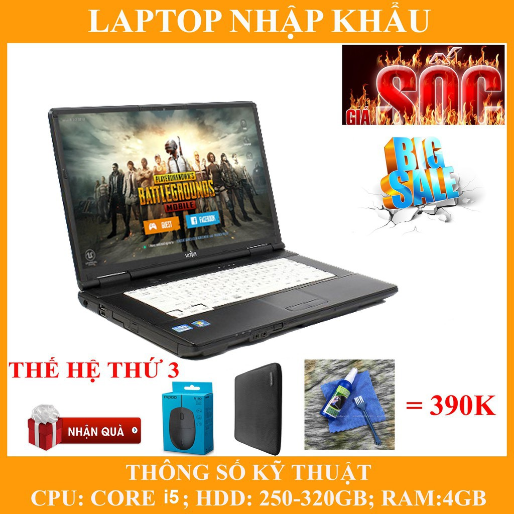 Laptop chơi game fifa 4, pubg mobile,  Core i5, RAM 4G, 250gb #4