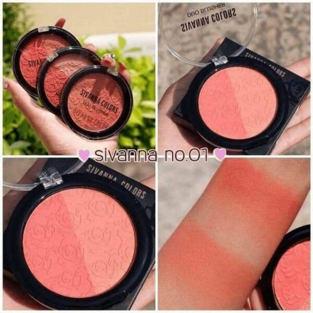 Phấn Má Hồng Sivanna Color Duo Blusher HF387 8g