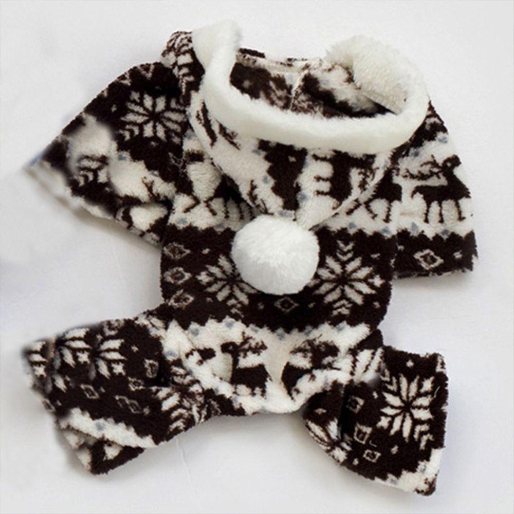 Bộ áo trùm đầu mềm mại giữ ấm cho cún cưng