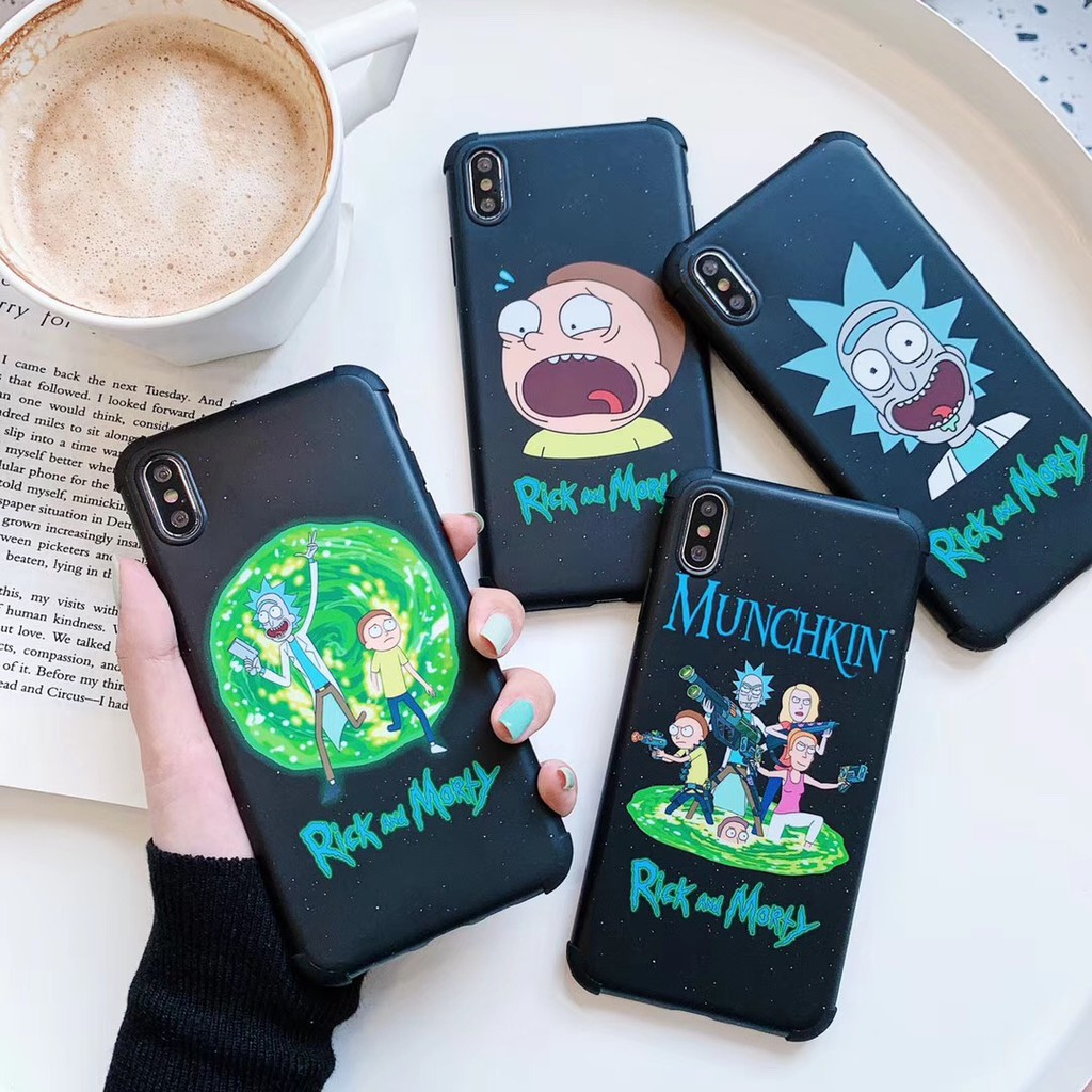 Rick And Morty SoftCase for IPhone X XR XS max 7 8Plus Apple 4 Corners Cover COD
