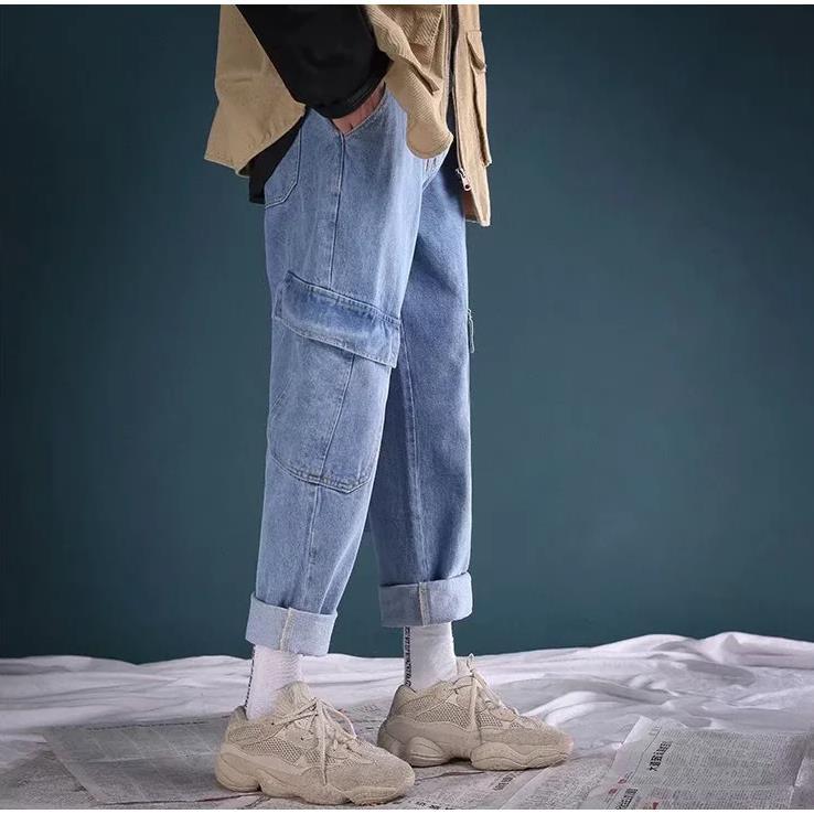 Quần Jeans Nam Ống Đứng Thời Trang Hàn