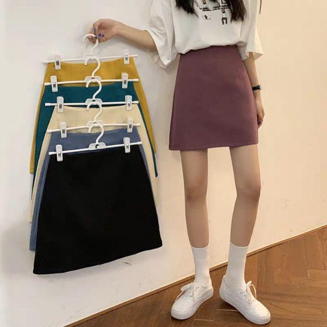 Chân váy vải chữ A trơn