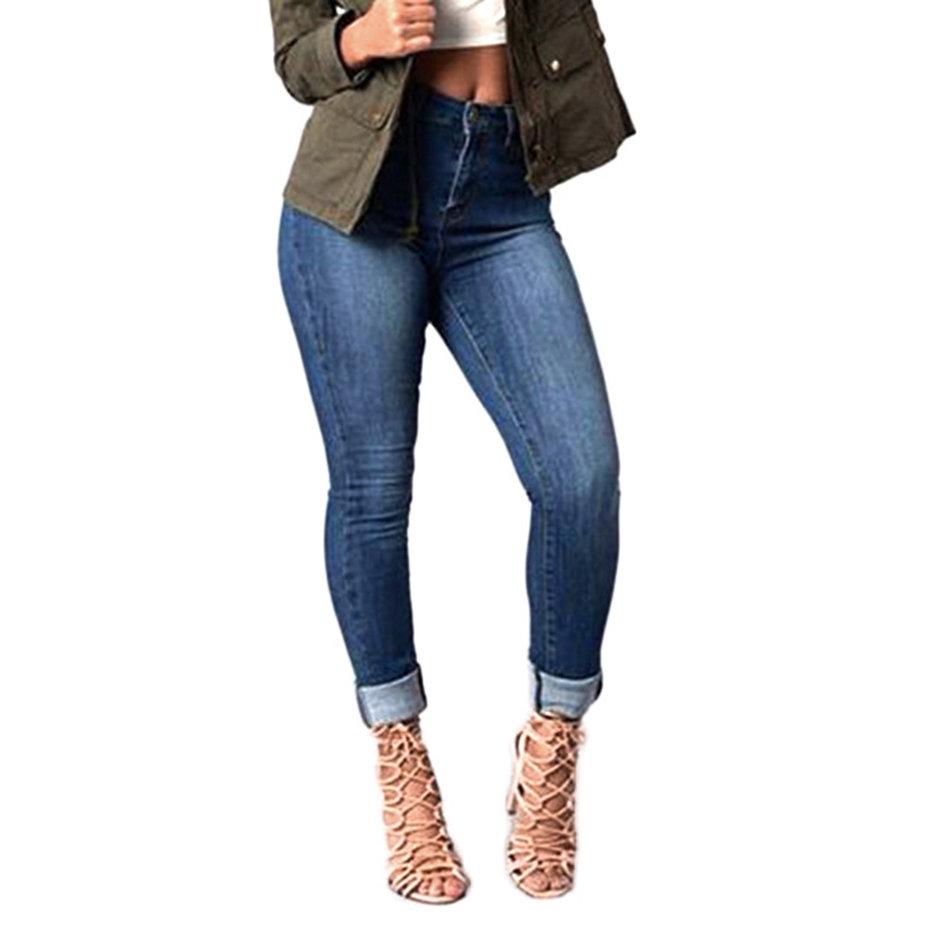 Quần jeans skinny nữ lưng cao co giãn quyến rũ