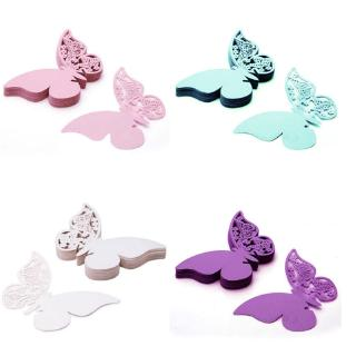 Wholesale Wedding Supplies Butterfly Name Place Card Holder Wedding Party Table Wine Glass Decoration Party Event