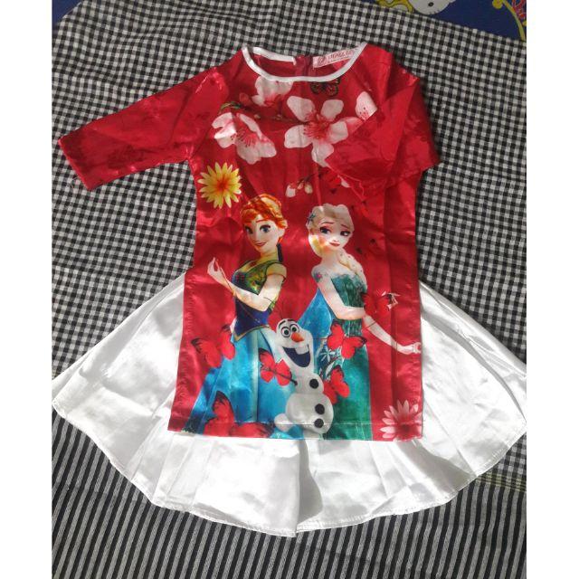 Set áo dài cách tân kèm váy có chip cho bé