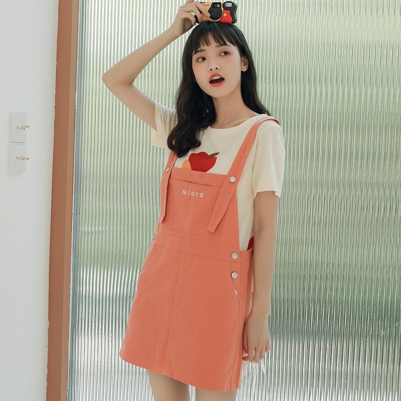Chân Váy Denim Thêu Họa Tiết Xinh Xắn Dành Cho Nữ 2020