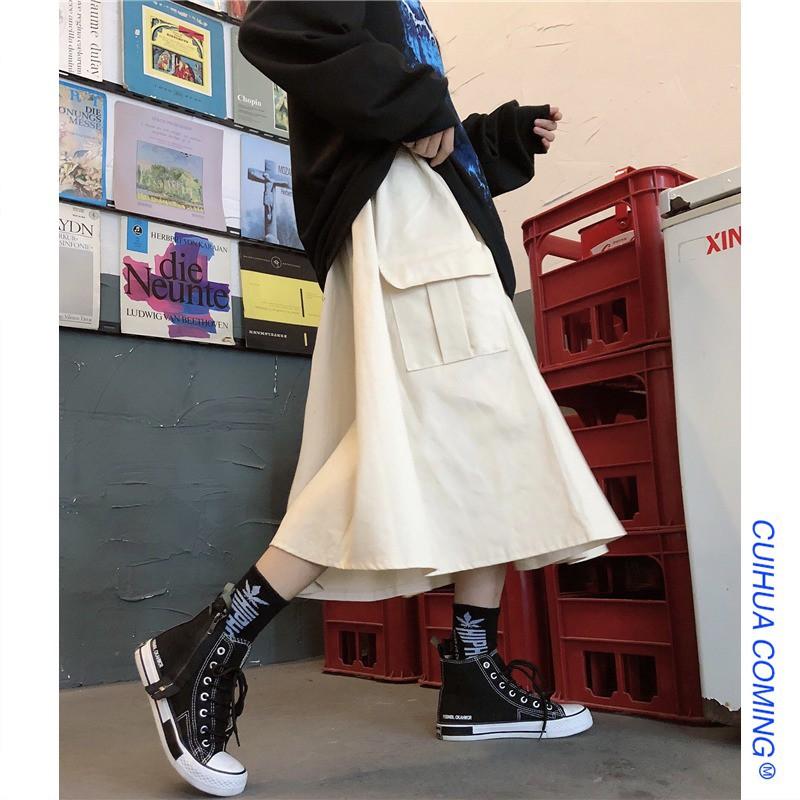 Chân Váy Lưng Cao Thời Trang Retro Cho Nữ