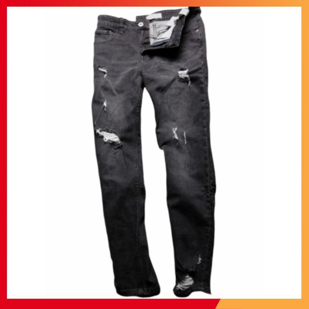 [ HOT ] Quần jean nam rách 2 màu khói đậm và nhạt hàng VNXK cao cấp Siêu Rẻ