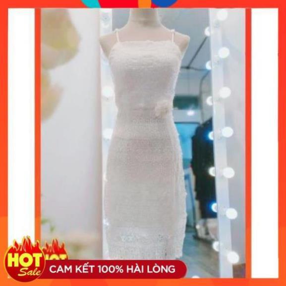 [Mặc Là Xinh] Đầm váy dự tiệc ren trắng thanh lịch sang trọng nhất 3153848104