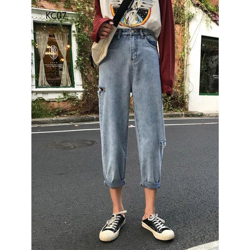 Quần jeans nữ dài lưng thấp