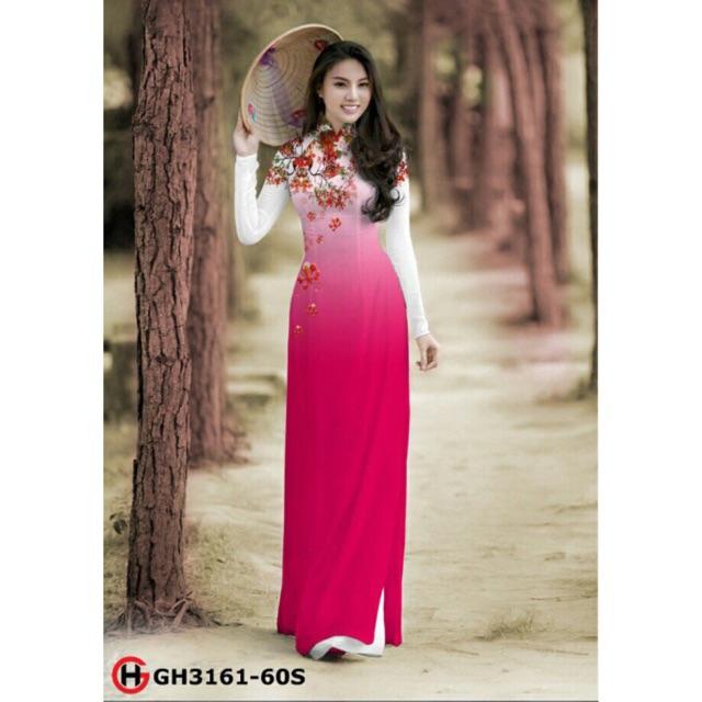 Vải áo dài hoa phượng