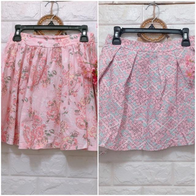 Thanh lý chân váy hoa hồng dễ thương