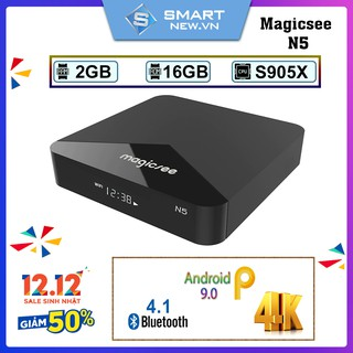 Android Tivi Box Magicsee N5 - Android 9.0 - Ram 2GB Rom 16Gb - Bản Single Wifi - RO