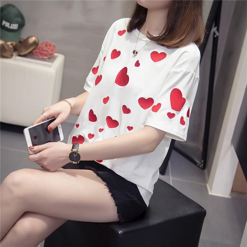 áo thun ngắn tay kiểu hàn quốc cho nữ size l-4xl