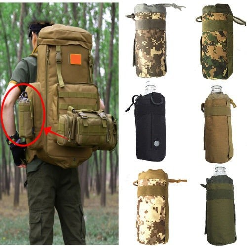 HGLOutdoor Nylon Tactical Hiking Molle Water Bottle Holder Belt Carrier Pouch Bags