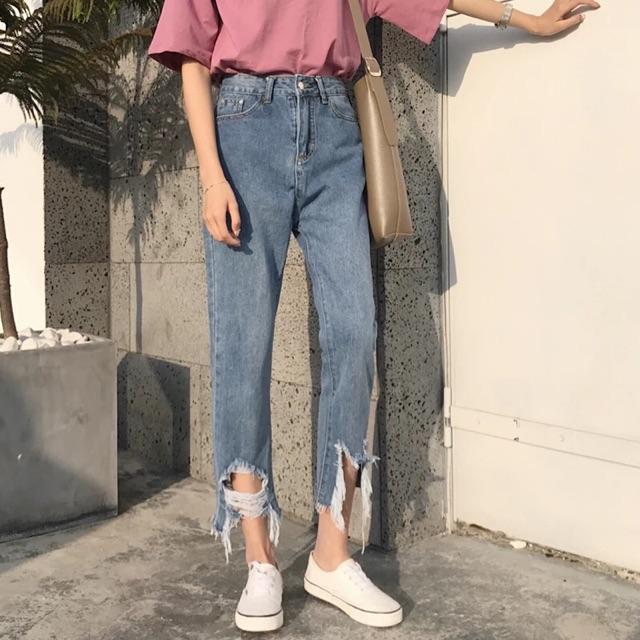 Quần jeans rách ulzzang