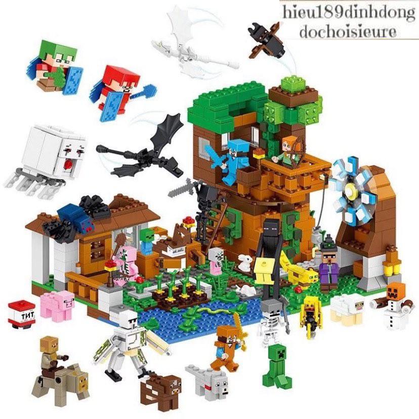 Lắp ráp xếp hình Lego MineCraft My World Lele 33163: Nông trại hiện đại (hot 2018)