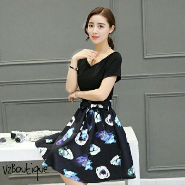 Đầm xòe Hàn Quốc - V2Boutique