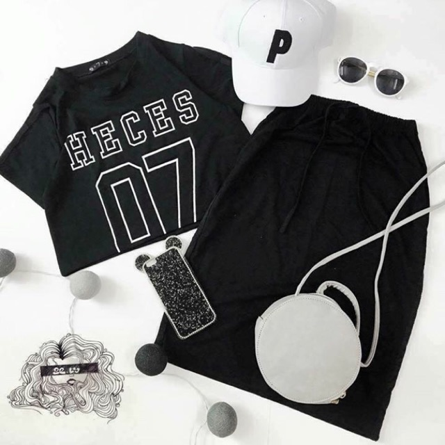 Set thể thao áo + váy số 7