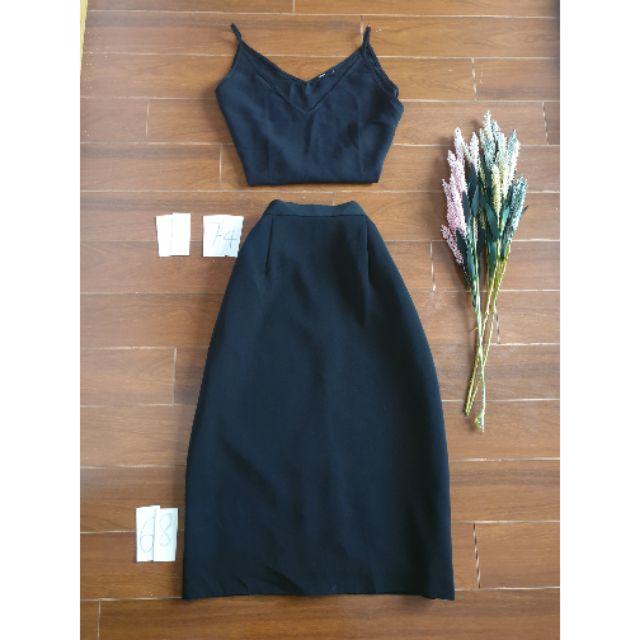 Hàng si- chân váy đen trơn