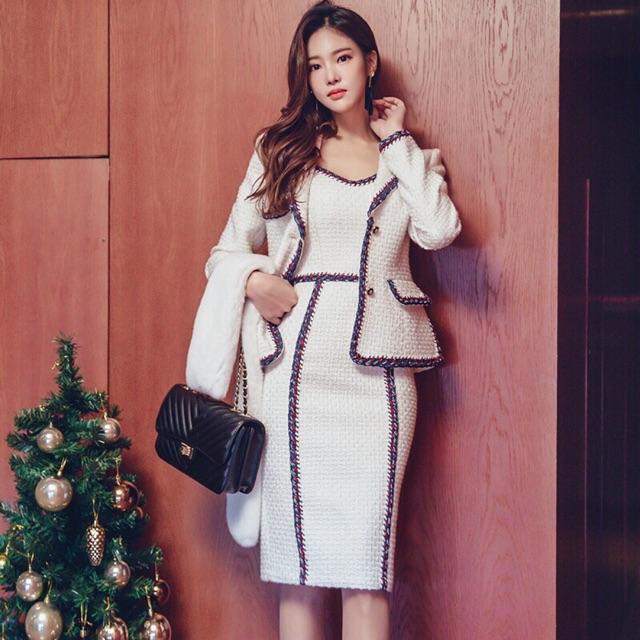 Bộ váy + áo khoác cao cấp