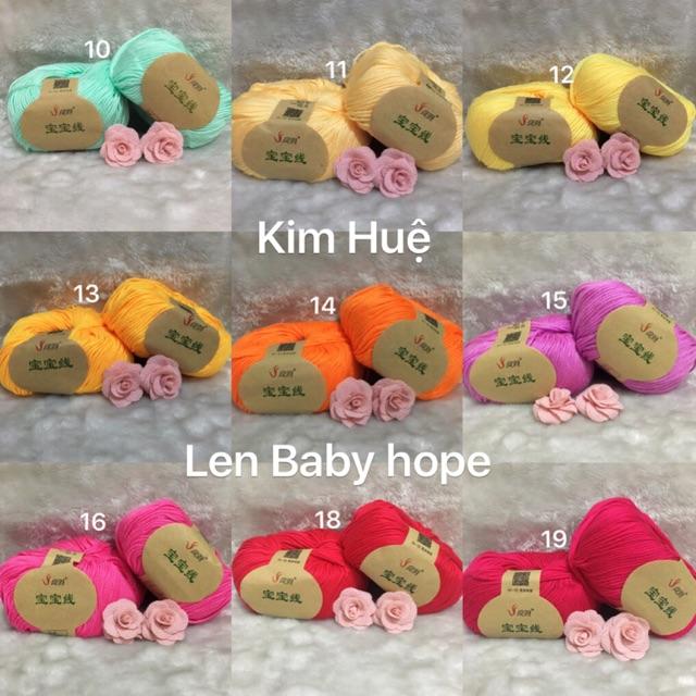 Combo len baby hope, cotton viêt nam bàvkom bao da hồng