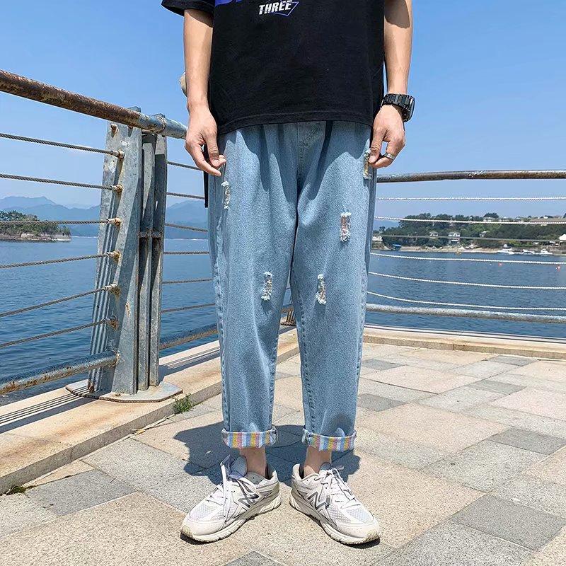 Quần Jeans Nam Viền Sọc Bên Cá Tính