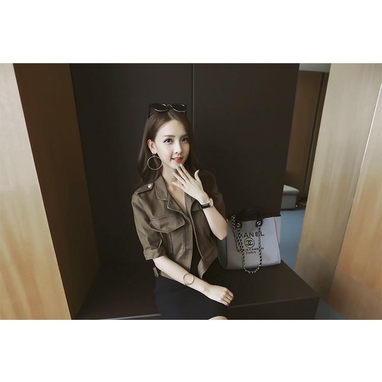 Áo Khoác cardigan Hàn Quốc E2014 - (Màu xanh)