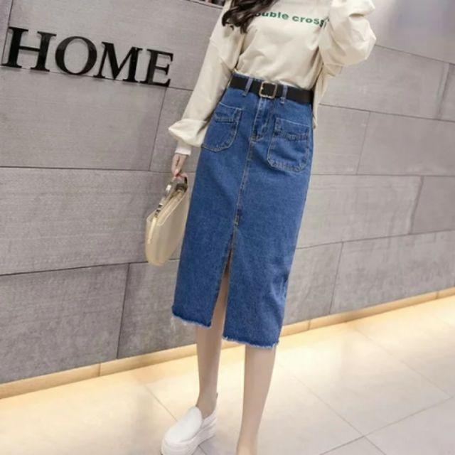 Chân váy jeans Quảng Châu