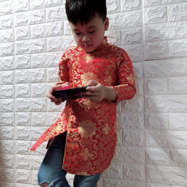 Combo áo dài cách tân bé trai