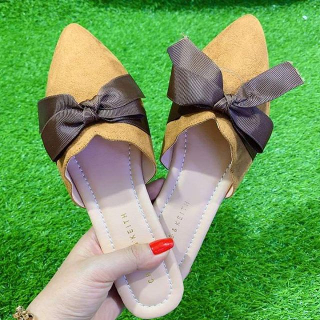 Giày sandal quai hậu bản ngang size 37 quai nhúng màu nâu bò cực xinh