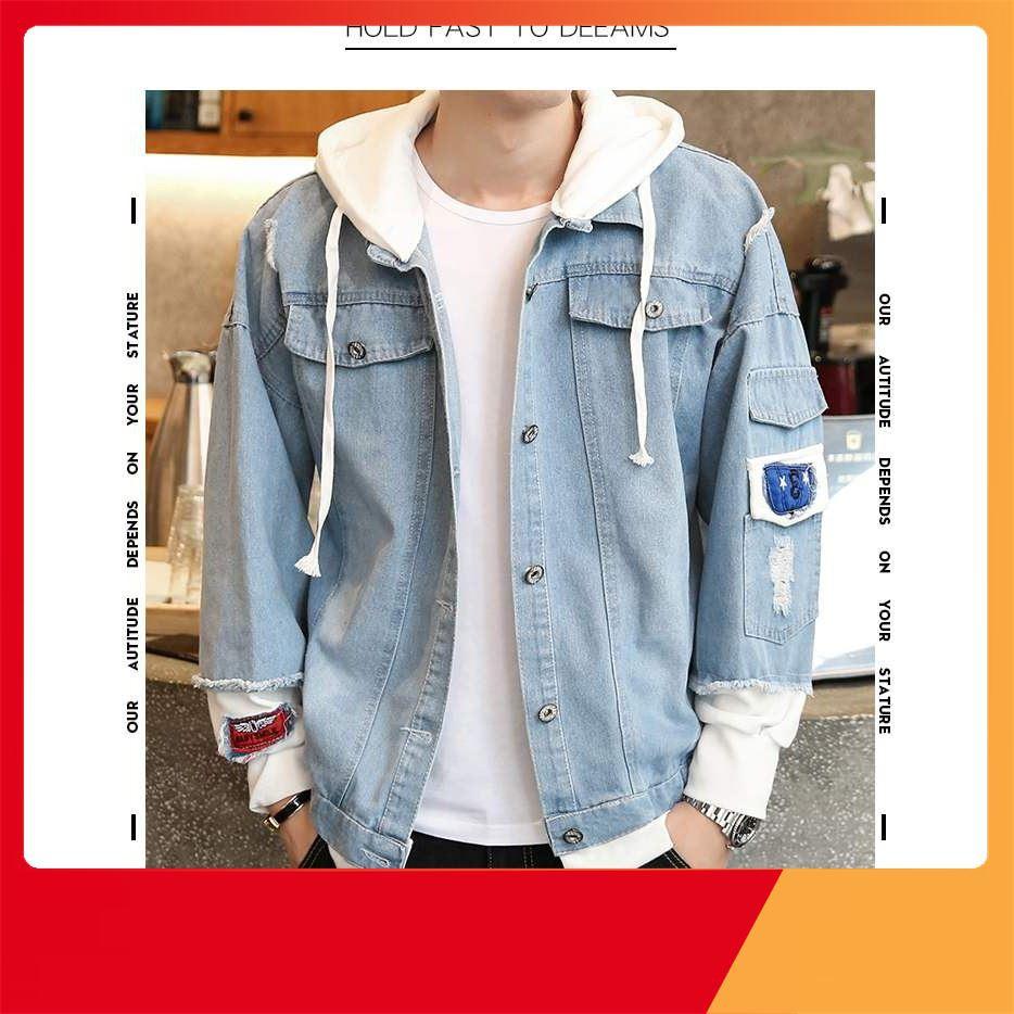 [ Rẻ Vô Địch ] áo khoác jean nam,khoác jean Unisex cao cấp KJC36 thời trang nem