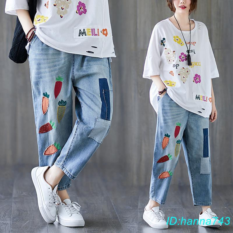 Quần Jeans Dài Ống Rộng Trẻ Trung Thời Trang Cho Nữ