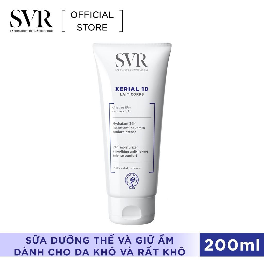 Sữa dưỡng thể và giữ ẩm dành cho da khô và rất khô SVR XERIAL 10 Lait Corps 200ml