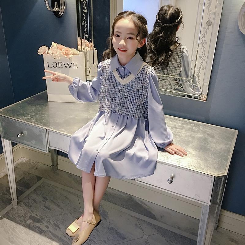 Set Áo Thun Dài Tay + Chân Váy Xinh Xắn Thời Trang Dành Cho Bé Gái