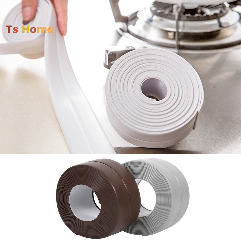 【TS】3.2m PVC Waterproof Kitchen Wall Seams Strip Corner Anti-bump Protector Sticker