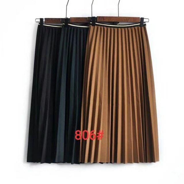 Chân váy xếp ly dáng dài ( hàng quảng châu l1 )