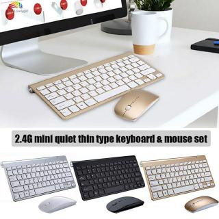 ❤ Mini Wireless Keyboard And Mouse Set Waterproof 2.4G For Mac Apple PC Computer 【HL】