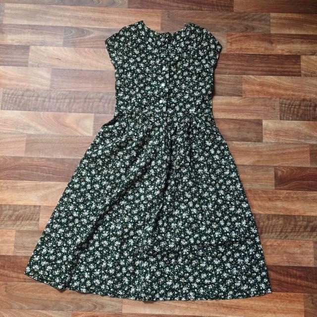 Pass đầm hoa xanh vintage